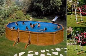 Piscine Acier Aspect Bois : piscine hors sol acier gre aspect bois 5 x 3 x h m ~ Dailycaller-alerts.com Idées de Décoration