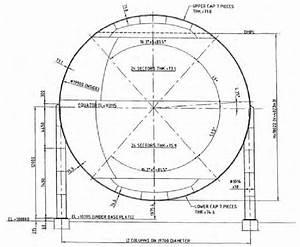 Spherical Pressure Vessel With 12 Columns  Inner Diameter Of The Sphere