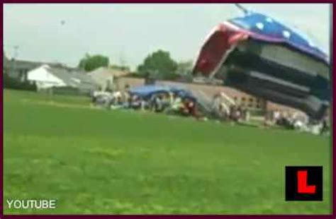 bounce house blows away bounce house terror as bouncy house blows away