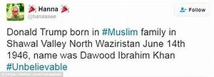 Birther theory suggests Donald Trump was born in PAKISTAN ...