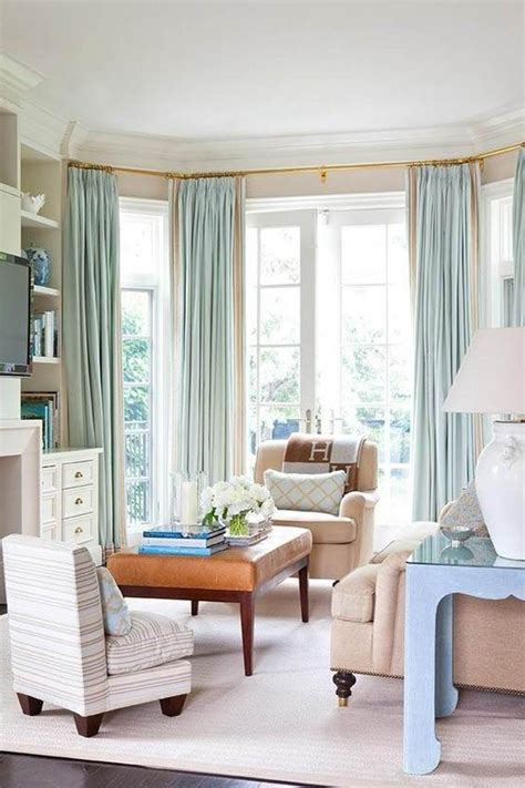 window coverings  bay windows   create visually
