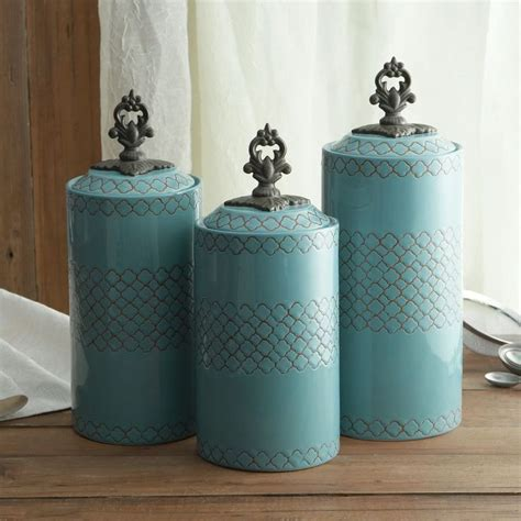 blue kitchen storage jars celtic blue kitchen canisters set brendans 4831