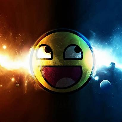 Awesome Backgrounds Ipad Face Desktop Space Smiley
