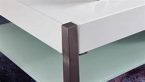 Couchtisch Weiß Glas : couchtisch migel in mdf und glas wei lack mit metallgestell 105x65 cm ~ Eleganceandgraceweddings.com Haus und Dekorationen
