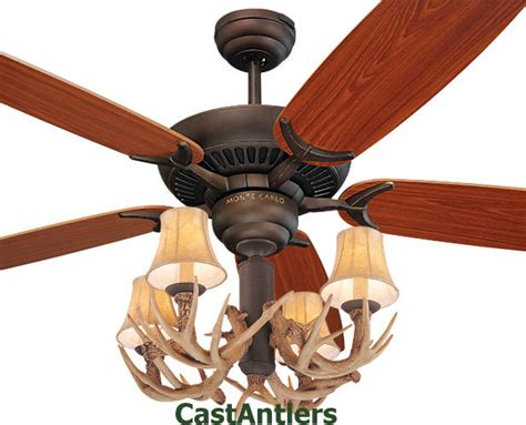 52 inch rustic cabin lodge antler ceiling fan 4 lights ebay