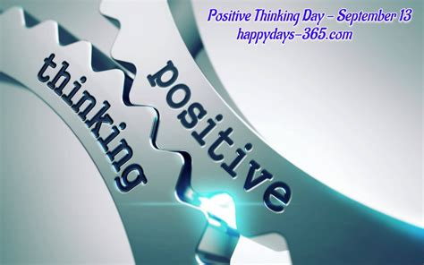 positive thinking day september   happy days