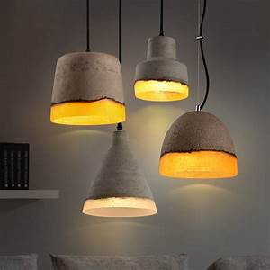 Loomier mini concrete light shade wire suspended