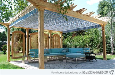 Diy Fabric Patio Cover Ideas 15 cozy outdoor spaces with fabric canopy home design lover