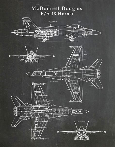 F18 Diagram Of Engine by F 18 Hornet Patent Drawing Print Bomber Plane Mcdonnell