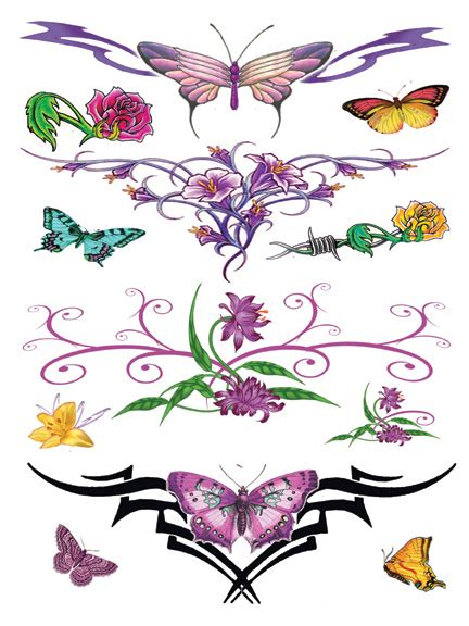 temporary tattoo factory butterfly