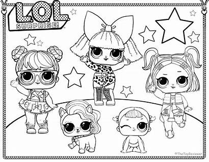 Coloring Pages Worksheets Lol Boy Punk Dolls