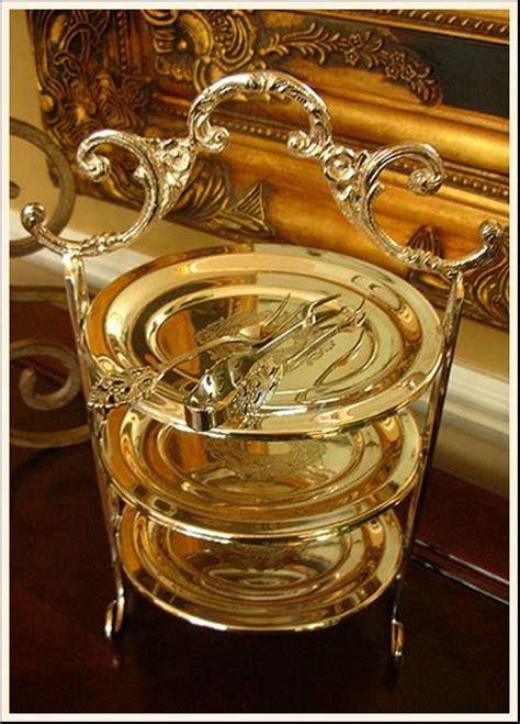 elegant  tiered piece  serving high tea