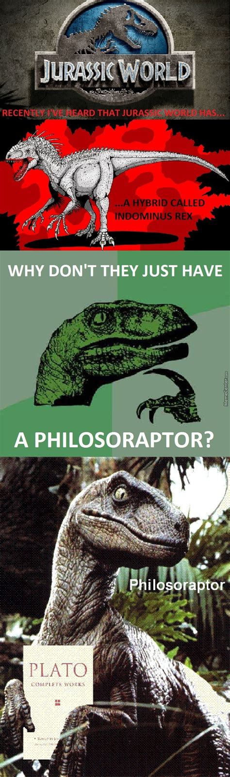 Jurassic Memes - philosoraptor in jurassic world by winternet meme center