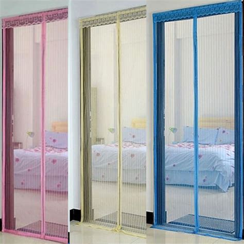 image magnetic mesh screen door curtain