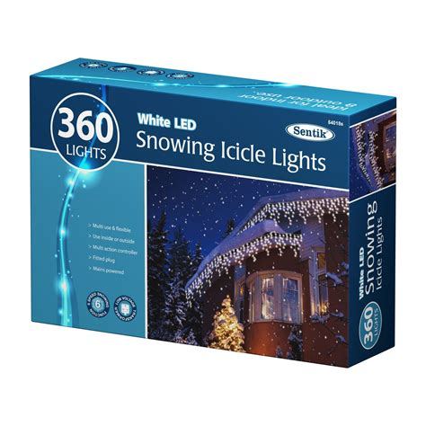 christmas led white snowing icicle bright party wedding