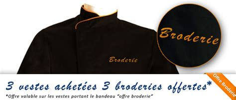 veste de cuisine homme personnalisable veste de cuisine personnalisée brodée broderie