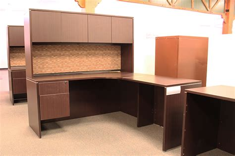used l shaped desk used office source l shaped desk with hutch ofw pittsburgh