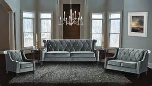 armen living 3 piece barrister velvet sofa set