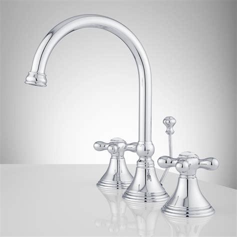melanie widespread gooseneck bathroom faucet cross