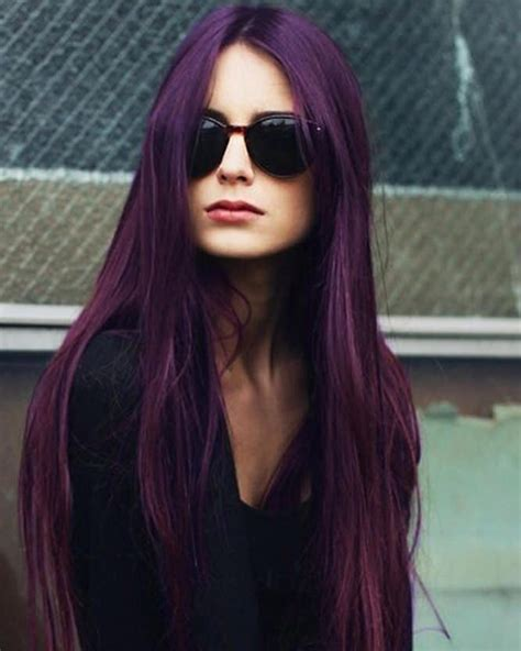 Black Hair Color Ideas by 50 Stylish Purple Hair Color Ideas Destined To