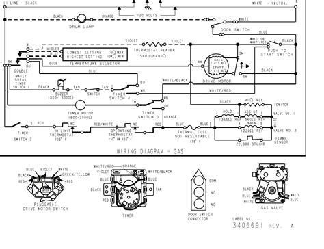 whirlpool dryer motor wiring diagram schematic dryer