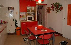 deco cuisine retro rouge With deco retro cuisine