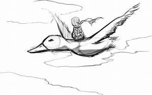 Ducks Flying Drawing