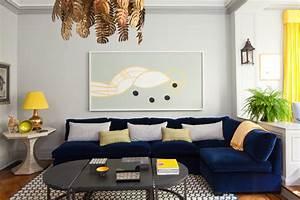 tremendous contemporary blue velvet sectional sofa With blue sofa living room design