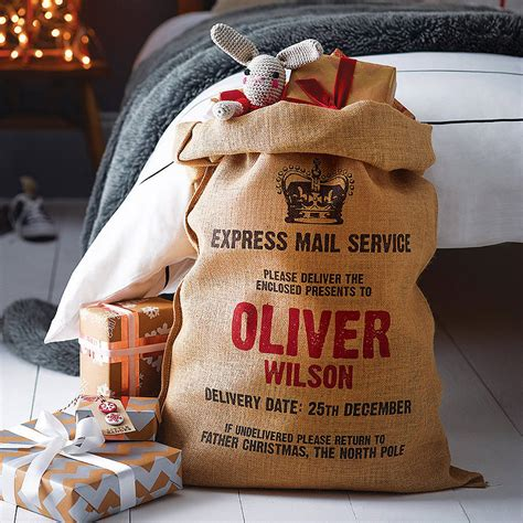 personalised christmas sack by harrow green