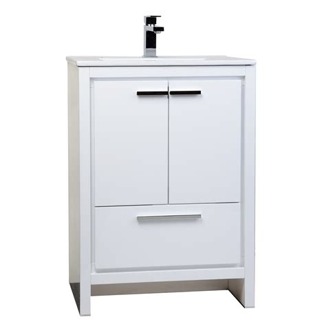 designer bathroom vanity buy cbi enna 23 5 inch white modern bathroomvanity tn