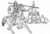 Coloring Pages Spear Knights sketch template