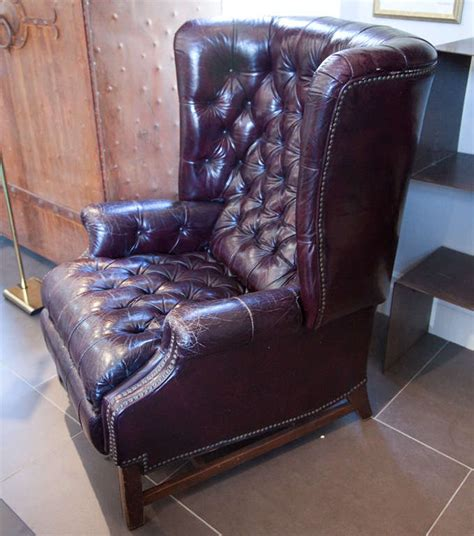 chesterfield leather tufted recliner image 5