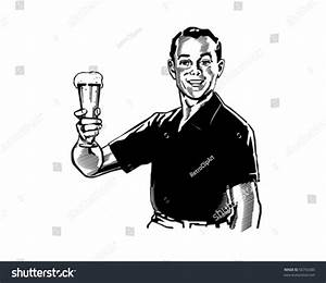 Man Beer Retro Clip Art Stock Vector 56756380 - Shutterstock