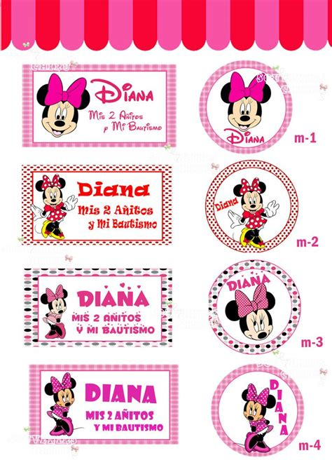 Minnie Mouse Printable Decorations by 17 Best Images About Dise 241 Os Para Candy Bar On Pinterest