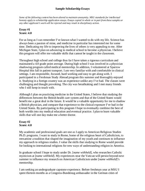 scholarship essay examples   examples