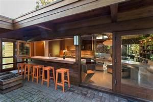 Accordion windows kitchen farmhouse with kitchen