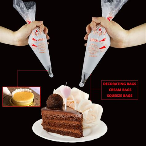 pcsbag disposable plastic pastry piping bag icing