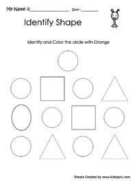 geometric shapes sorting worksheet  class math shapes