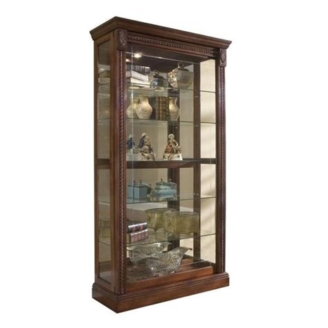 curio cabinets with glass doors pulaski medallion cherry curio cabinet glass display wood
