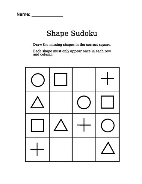 Free math puzzles and brain teasers and riddles for kids and students in primary math education. File:4x4 shapes sudoku puzzle.pdf - Wikimedia Commons