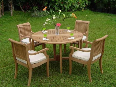 giva pc outdoor teak dining patio butterfly