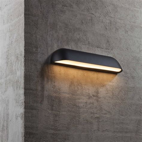 dftp nordlux front 36 outdoor led wall light black