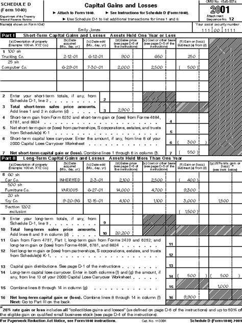 Irs Capital Gains Worksheet Worksheets For All  Download And Share Worksheets  Free On