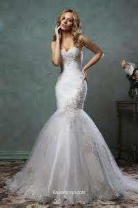 strapless mermaid wedding dresses stylish strapless sweetheart neckline tulle mermaid wedding dress groupdress