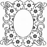 Coloring Mirror Pages Flowers sketch template