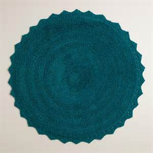ink blue round bath mat world market
