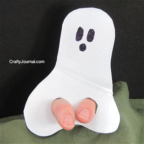 ghost finger puppet from a milk jug 638 | ghost finger puppet 08w