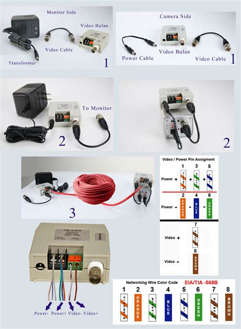 Passive Video Balun Terminal Type For Ccd Cameras Power