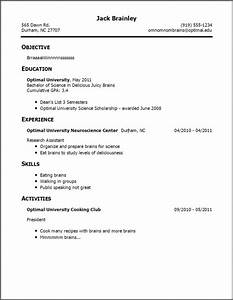 Teenage resume template learnhowtoloseweightnet for Easy resume template for high school students