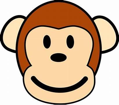 Monkey Cartoon Face Happy